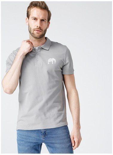 National Geographic National Geographic Polo T-Shirt Gri